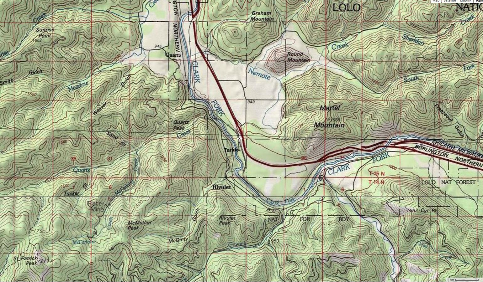 Map of Tarkio