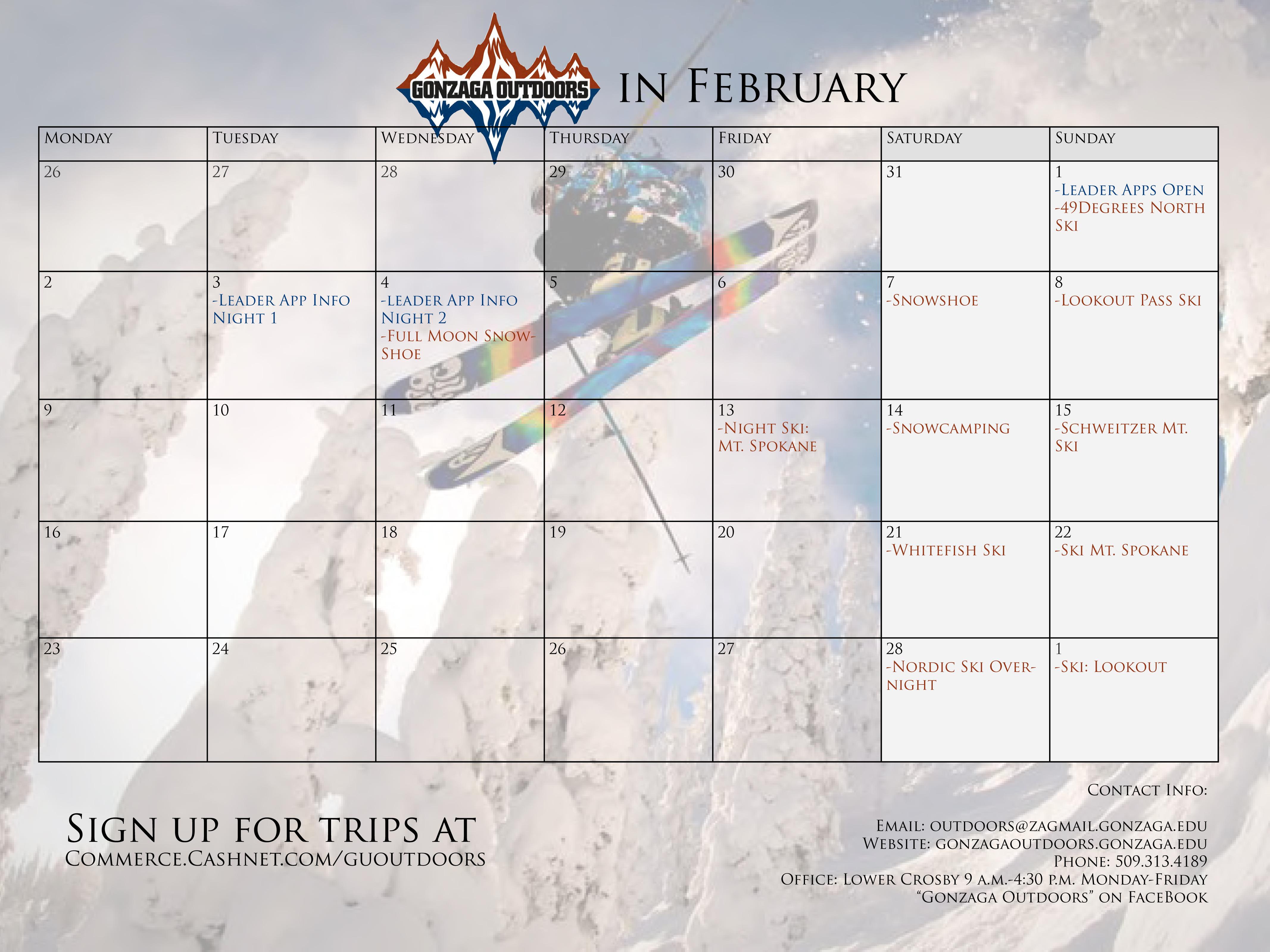 Calendar Feb 2015