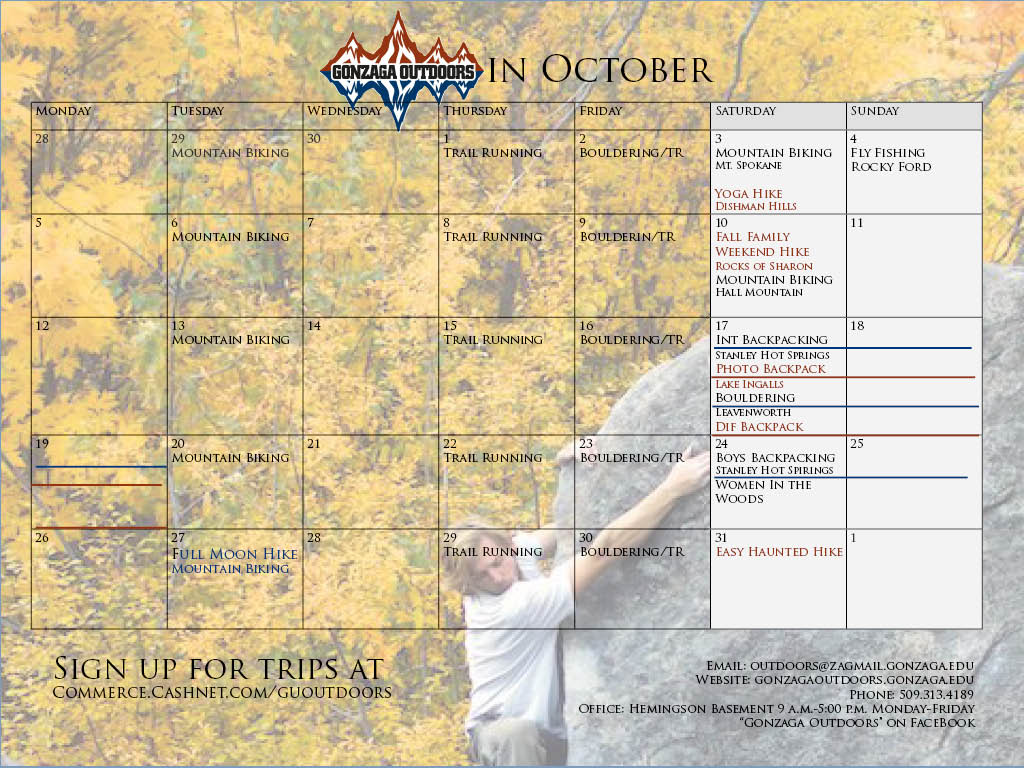 Calendar October 2015 Luke S